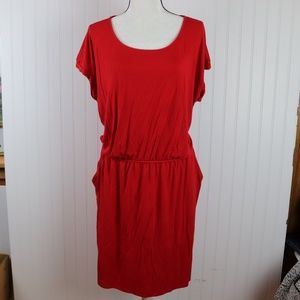 Apt 9. Red Drop Waist Summer Dress Size XXL